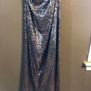 Artist Ombré Maxi Sequin Skirt
